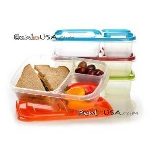 Easylunchboxes bento lunch box pack of 4