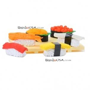 Cute Japanese Eraser Set Collectible Sushi 7 pcs