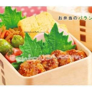Microwavable Silicone Perilla Leaf for Bento Decoration
