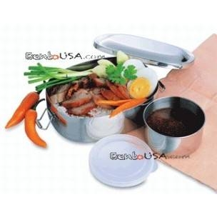 FINEST STAINLESS STEEL BENTO LUNCH BOX 2 CONTAINERS