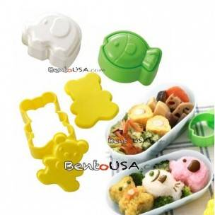 Japanese Bento Decoration Animal Shaped Rice Mold 3 Designs