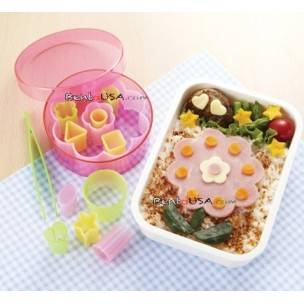 Japanese Bento Deco Cutter Ham Cheese Cutter Arrange Set in a
