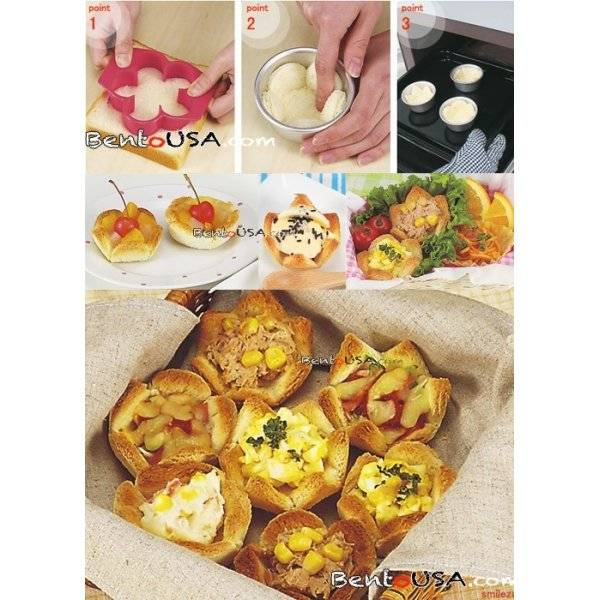 Bento cooking tool accessories Sandwich Cutter and Bread Cup Mold