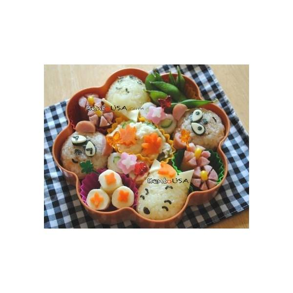 Japanese Bento Decoration Ham Cheese Cutter Set 7pcs with Baran