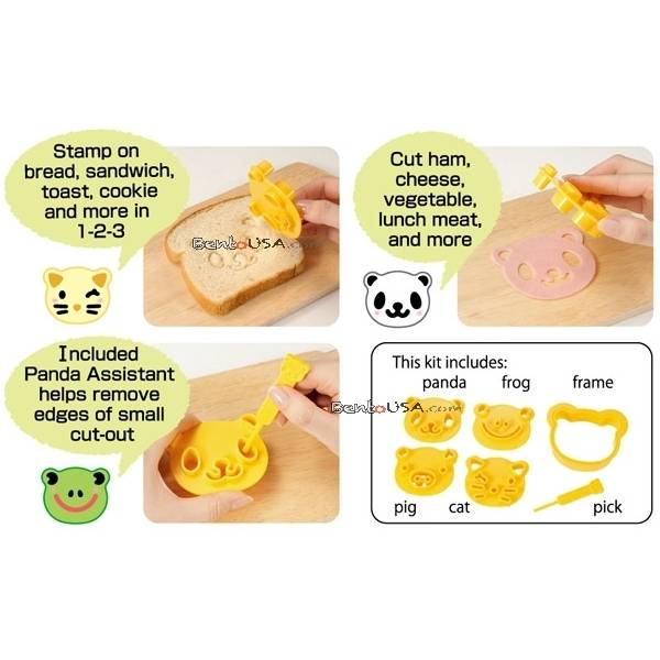 cutezcute how to make cute bento panda cat pig and frog
