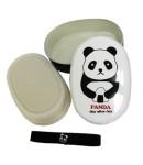 panda oval bento box