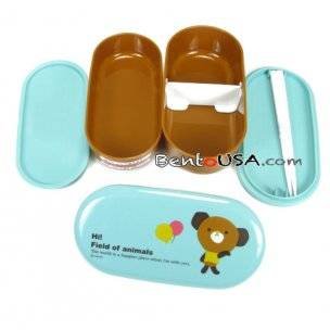 blue bear bento box inside