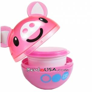 2 Tier Bento Food Container Ball Pink Pig set