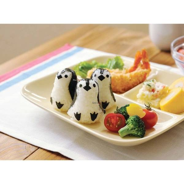 Kids school lunch - Healthy Baby Penguin Rice Ball