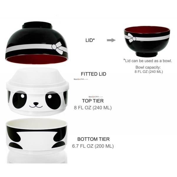 cuteZcute 2 tier Bento Lunch Box Set Baby Bento Buddies - Baby Ninja Panda