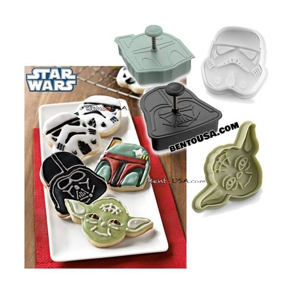 Star Wars Yoda Darth Vader Cookie Cutter, Bread Stamp for bento lunch