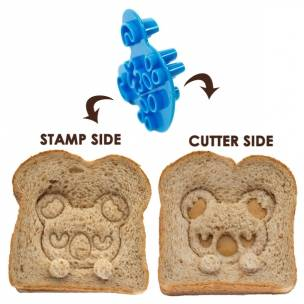 2-sided stamping cutter, cut sandwich, cookie stamp