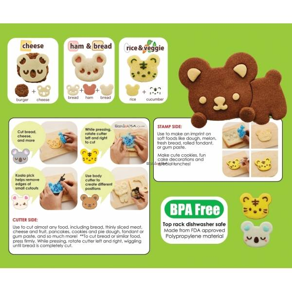 CuteZCute Cuddle Palz Sandwich Cutter Cookie Stamp