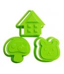 Japanese Bento Cookie Cutter Stamp House Bear Mushroom