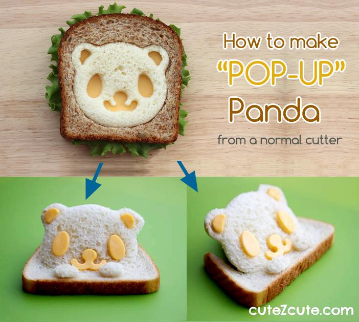 How to make Pop Up Sandwich from a normal bento cutter