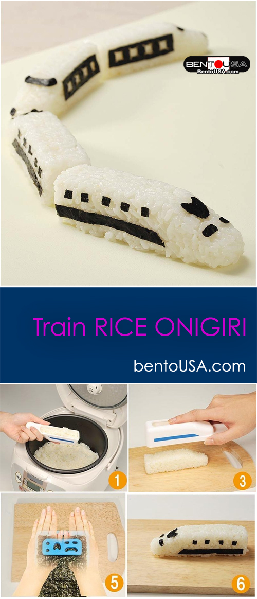 Play with food - Fun Train Rice Onigiri