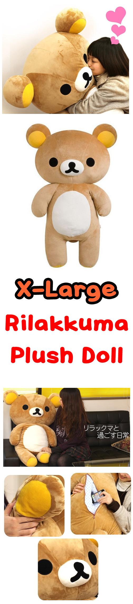 Rilakkuma San X Plush Doll XL size