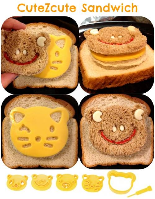 cutezcute cute peekaboo sandwich bento